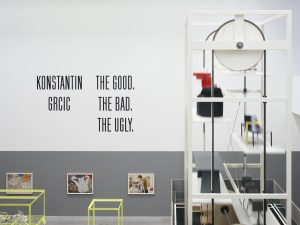 "Blick in die Ausstellung ""Konstantin Grcic: The Good, The Bad, The Ugly"", Foto: Gerhardt Kellermann © Konstantin Grcic"
