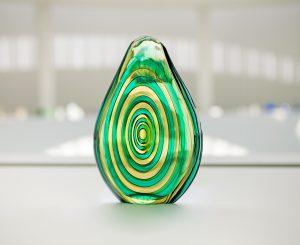 "Vase ""Siderale"" (Installationsansicht), c. 1952, Flavio Poli für Seguso Vetri d'Arte, XXVI. Biennale di Venezia, 1952, Foto: Anna Seibel"
