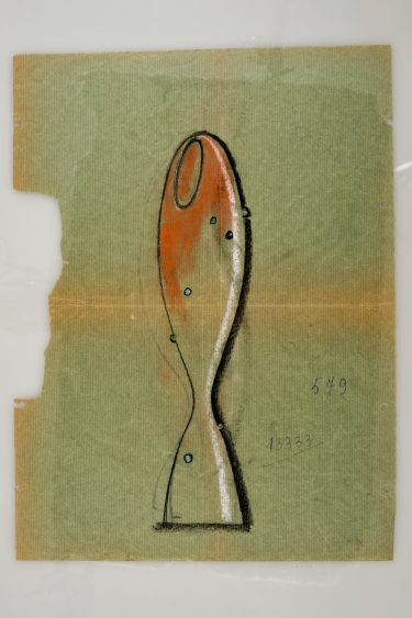 "Zeichnung ""Arcobaleno"", Modell-Nr. 13333, A.Ve.M. Archiv, Foto: Bildarchiv Holz, Berlin"