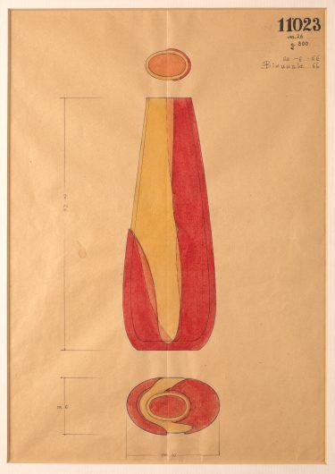 "Zeichnung ""A Colori Sovrapposti"", Modell-Nr. 11023, 1966, Archiv Gino Seguso, Foto: Die Neue Sammlung (A. Laurenzo)"