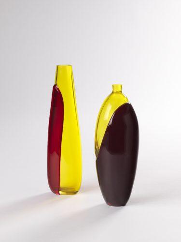"Vasen ""A Colori Sovrapposti"", Archimede Seguso, c. 1966, XXXIII. Biennale di Venezia 1966, Foto: Die Neue Sammlung (A. Laurenzo)"