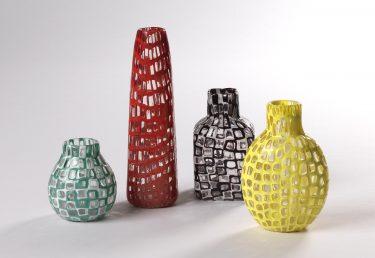 """Vasen """"Occhi"""", Tobia Scarpa für Venini, c. 1959, XII. Triennale 1960, Foto: Die Neue Sammlung (A. Laurenzo)"""
