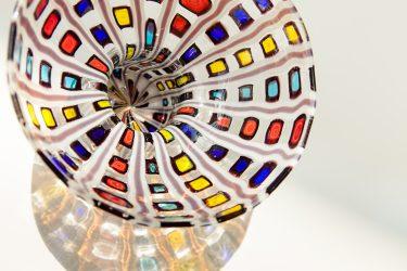 "Vase ""Diamantato"" (Installationsansicht), c. 1968, Ercole Barovier für Barovier & Toso, XXXIV. Biennale di Venezia, 1968, Foto: Anna Seibel"