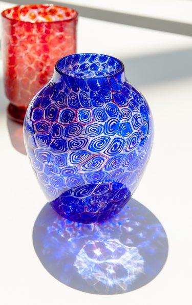 "Vasen ""Murrine a spirali"" (Installationsansicht), c. 1962, Renato Toso für Fratelli Toso, XXXI. Biennale di Venezia, 1962, Foto: Anna Seibel"