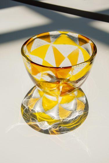 """Vase """"Intarsio"""" (Installationsansicht), c. 1961, Ercole Barovier für Barovier & Toso, XXXI. Biennale di Venezia, 1962, Foto: Anna Seibel"""