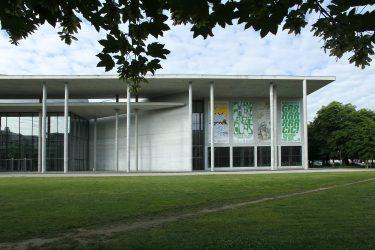 Pinakothek der Moderne. Banner. Design: Bureau Mirko Borsche