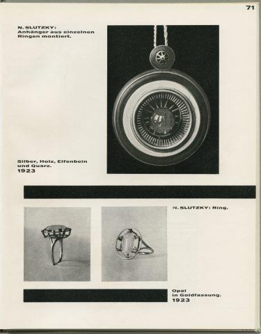 S. 71 aus: Neue Arbeiten der Bauhaus-Werkstätten (Bauhausbücher, Bd. 7). München 1925